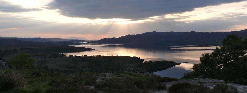 Sun set over Loch Torridon