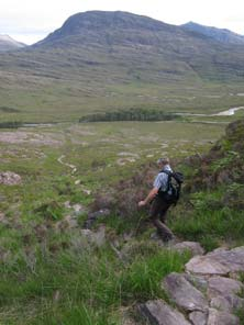 There are miles of Highland footpaths on the Ben Damph estate